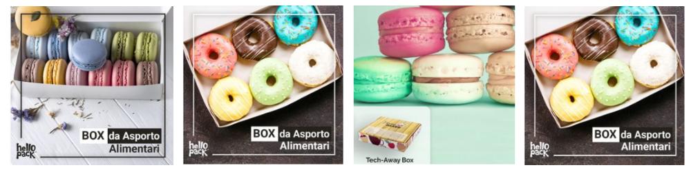 scatole da asporto per dolci